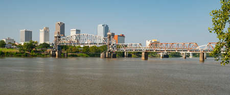 Its a beautiful day on the riverfront in the State Capitol city of Little Rock, Arkansas