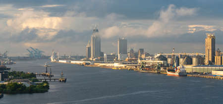 The US port city of Mobile has a busy port on Alabama's gulf coast and a clean downtown
