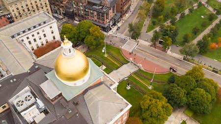 Downtown Boston Massachusetts On Parade Day Baseball World Series Champion Celebration