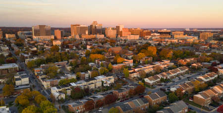 The not so little city skyline of Wilmington Delaware late on a fall day in the Northeast USA