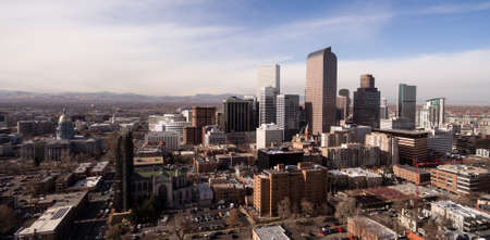 New construction springs up in downtown Denver Colorado Stock Photo - 114868301