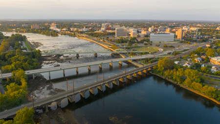 La capitale del New Jersey vicino al fiume Delaware nella città di Trenton