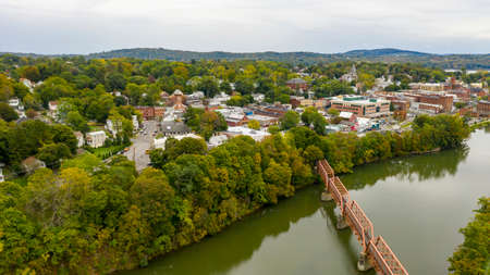Qauint little town on the Hudson River called Catskill in upstate New York Banque d'images
