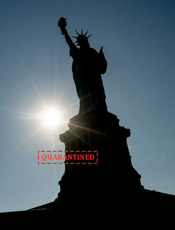 It's a cutout on blue of lady liberty in the Statue of Liberty Reklamní fotografie