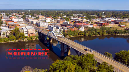 The Alabama River runs by Selma the count seat of Dallas County deep south USA Reklamní fotografie