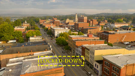A weekend day downtown area in the settlement called Marietta in Ohio State Reklamní fotografie
