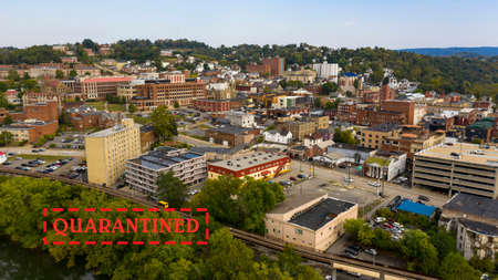 Morgantown West Virginia is situated on a steep hill above the Monongahela River