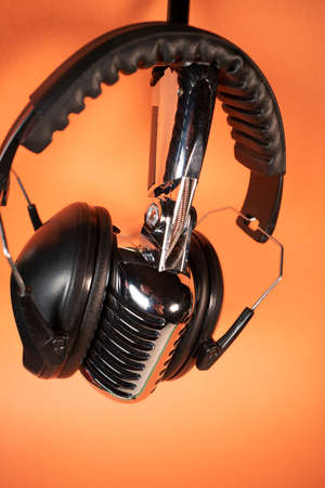 Items commonly used together for recording and listening to music and the spoken word