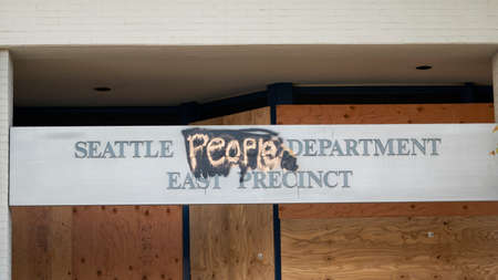 The Seattle Police Station has been turn into the People Department on Capital Hill inside CHOP