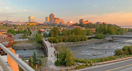 Late Sunset in the Last Frontier City of Anchorage Alaska