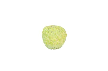 nutriments: Isolated shot of one sugar apple on white background