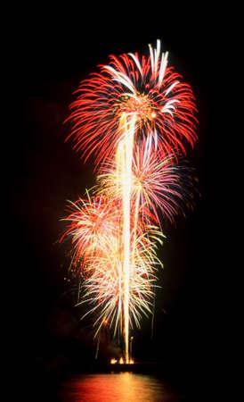 multiple bursts of fireworks