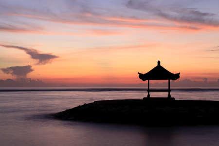 sanur: A Balinese Pagoda on the beach at Sanur. Taken at dawn. Bali, Indonesia