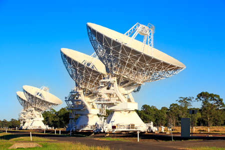 Four Compact Array RadioTelescopes used for scientific research, Australia photo