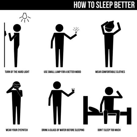 better icon: How to sleep better info graphic icon vector sign symbol pictogram Illustration