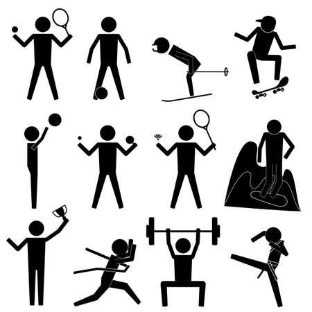 Sport Game Athletic Set Icon Symbol Sign Pictogram