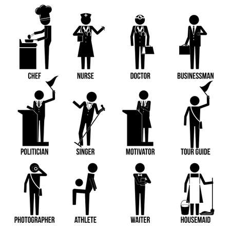 Miscellaneous Profession Icon Set Sign Symbol