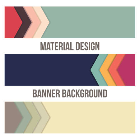 Background Unusual modern banner material design. Abstract Illustration.
