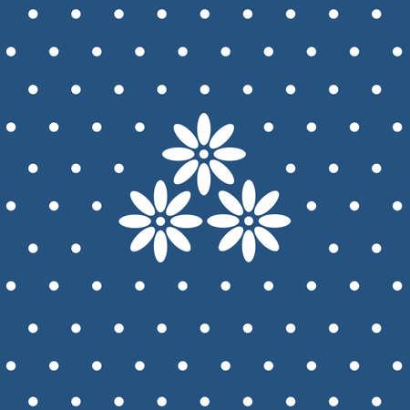indigo floral seamless pattern Stock Illustratie