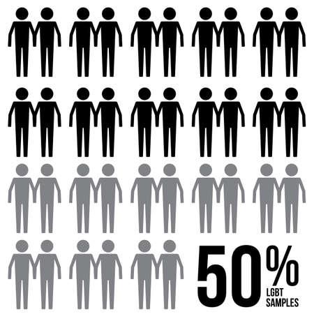 Gay Percentage Survey Results Sign Symbol Pictogram Stock Illustratie