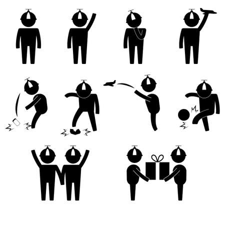 toddler and kid activity during growing phase icon sign symbol pictogram