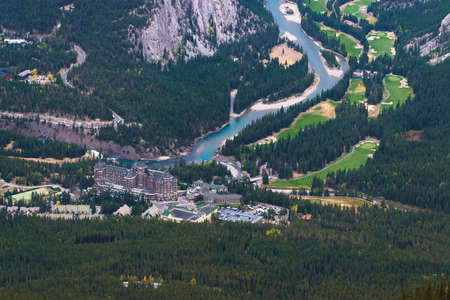 Bow River and Golf Campus seen from Sulphur Mountain