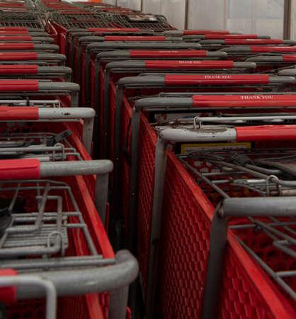 shopping carts Imagens
