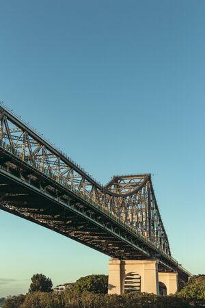 Brisbane Story Bridge just after dawn 스톡 콘텐츠