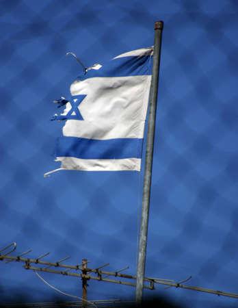 너덜 너덜 한 이스라엘 깃발