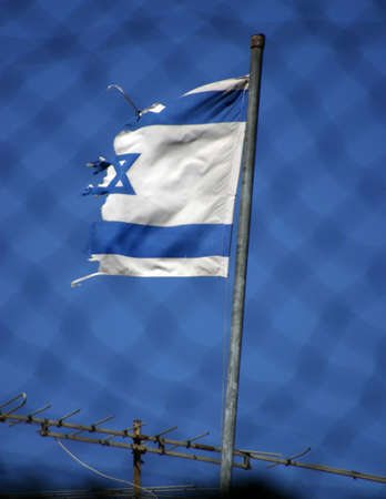 Tattered Israel Flag