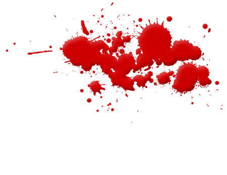 stabs: Illustration of blood splashes and stains over white background.