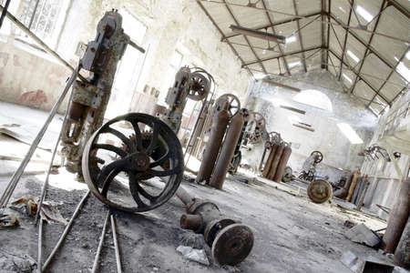 Old abandoned factory with useless rusty machinery. Stock Photo - 2422895
