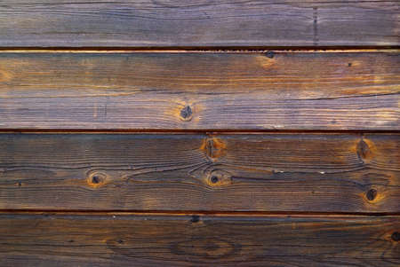 Old Wooden wall with dark brown planks. photo