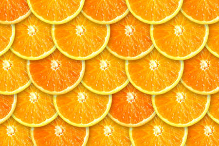 Background of rows of juicy orange slices Stock Photo - 2427168