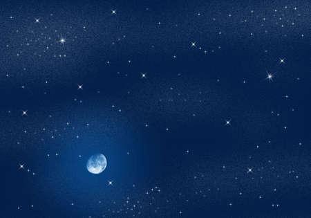astronomic: Deep dark night scene with starry sky Stock Photo