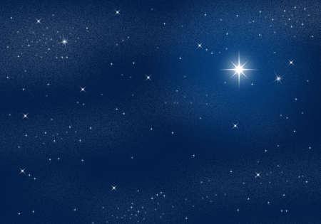 Deep dark night scene with starry sky Stock Photo