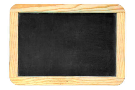 Small old chalkboard isolated over white background Stock Photo - 2651956
