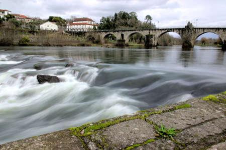 lima province: Landscape of Ponte da Barca, ancient portuguese village
