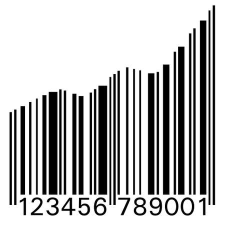 Conceptual illustration of a barcode as statistic graph Stock Vector - 3925192