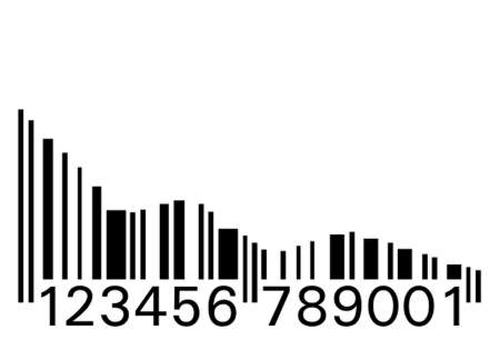 Conceptual illustration of a barcode as statistic graph Vector