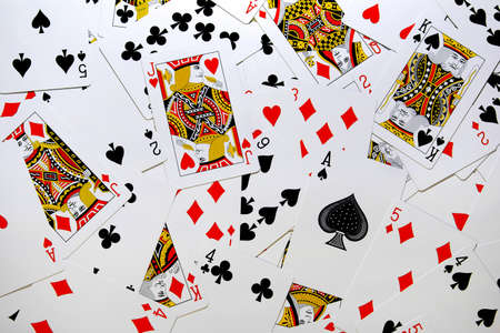Messy background of a playing cards deck Stock Photo - 3954613