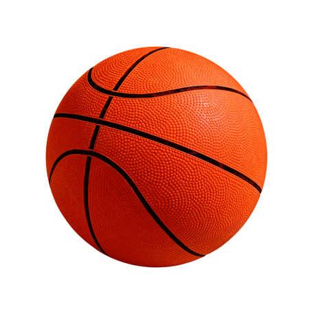 Photo de basket-ball en isolé sur fond blanc Banque d'images
