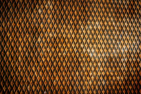 Background of a bumpy and rusty old iron surface with a pattern