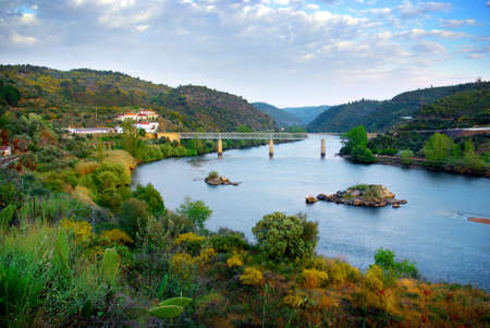 tagus: Beautiful landscape of River Tagus valley in Portugal