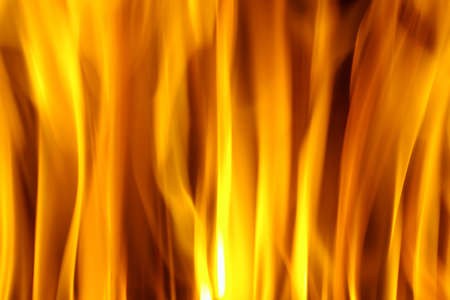 infernal: Hot background of burning fire flames Stock Photo