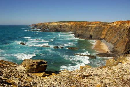 Steep slopes of the portuguese Atlantic coastline Stock Photo - 5377711