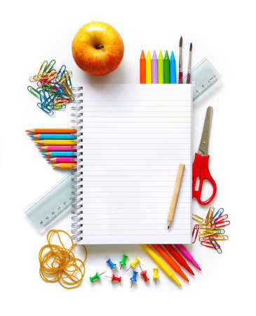 Photo of office and student gear over white background Stock Photo - 7573770