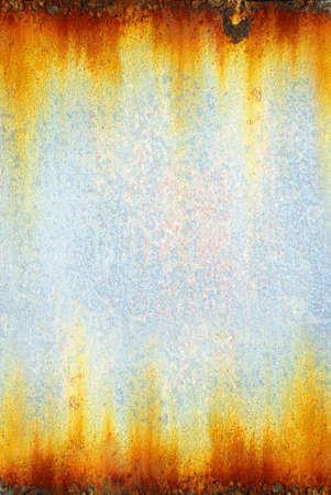Achtergrond foto van een hobbelige en roestige oude ijzer oppervlak  Stockfoto