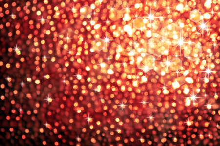 Abstract golden background of sparkling christmas lights photo