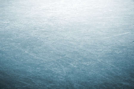 ice cold: background image of a detail of scratched ice skating rink Stock Photo